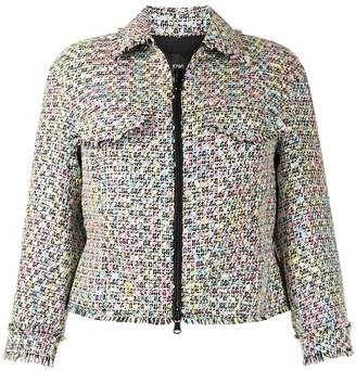 Emporio Armani Collared Tweed Jacket