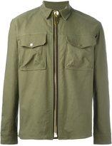 Palm Angels front pocket zipped jacket - men - Cotton/Polyurethane - 50