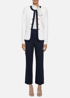 St. John Seaside Chain Stitch Texture Jacket