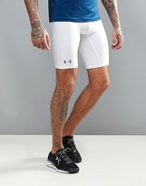 Under Armour Training Baselayer Hg Long Shorts In White 1289568-100
