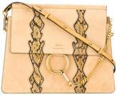 Chloé Faye shoulder bag - women - Calf Leather/Watersnake Skin/Calf Suede - One Size