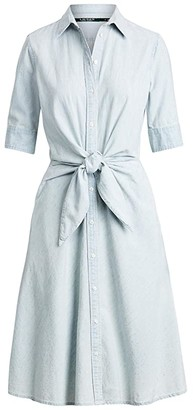 Lauren Ralph Lauren Chambray Shirtdress (Vintage Chambray Wash) Women's Clothing