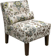 Rooms To Go Printer Park Gray Floral Armless Chair