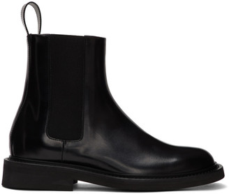 Bottega Veneta Black Spatso Chelsea Boots