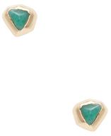 Maiyet 18K Yellow Gold & Emerald Cubist Stud Earrings