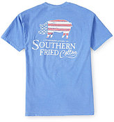 Southern Fried Cotton Mens Americana Pig Pocket Graphic Tee