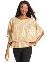 Style&Co. Top, Batwing-Sleeve Lace Peplum