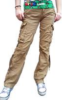 Skylinewears Women's Casual Cargo Pants Military Army Styles Cotton Trousers 2803 Black M