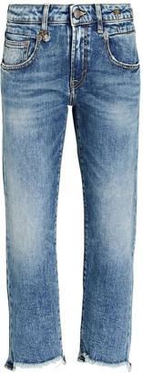 R 13 Boy Straight-Leg Crop Jeans