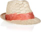 Eugenia Kim Max feather-embellished straw fedora
