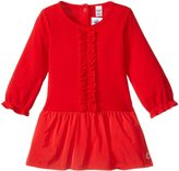 Petit Bateau Dress With Taffeta Skirt (Baby) - Red - 18-24 Months