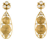 Temple St. Clair 18K Diamond Swirl Teardrop Earrings
