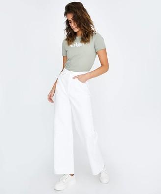 Insight Evie Wide Leg Jeans True White