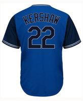 Majestic Men's Clayton Kershaw Los Angeles Dodgers Blue Steel Cool Base Jersey