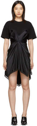 Alexander Wang Black Cinched T-Shirt Slip Dress