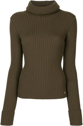 Chanel Pre Owned 2001 Ribbed Knit Roll-Neck Jumper