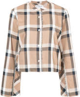 Derek Lam 10 Crosby wide sleeve cropped shirt