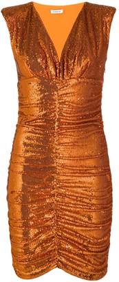 P.A.R.O.S.H. sequin gathered dress