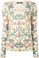 Roberto Cavalli floral patterned cardigan - women - Silk/Cashmere/Wool - 42