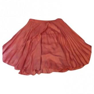 Sandro Pink Silk Skirt for Women