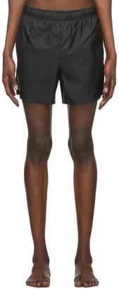 Acne Studios Black Nylon Swim Shorts