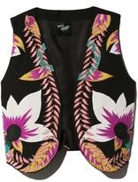 Mimi Liberte Floral Embroidered Cotton Vest in Proto