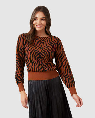French Connection Tiger Knit