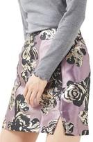Topshop Petite Women's Jacquard Pelmet Miniskirt