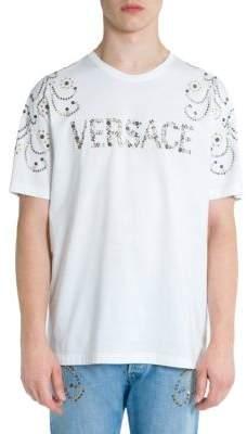 Versace Studded Logo Tee