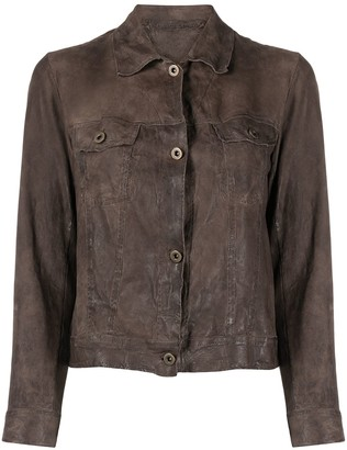 Salvatore Santoro Buttoned-Up Leather Jacket