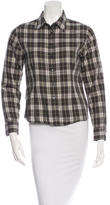 Burberry Nova Check Long Sleeve Top