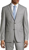 Michael Kors Slim-Fit Sharkskin Two-Piece Suit, Gray