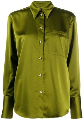 MSGM Satin Finish Buttoned Blouse