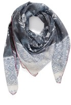 Treasure & Bond Women's Paisley Blocks Square Scarf