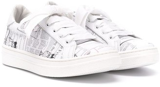 John Galliano Graphic Print Low-Top Sneakers