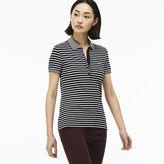 Lacoste Women's Slim Fit Striped Mini Piqu Polo