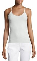 Lafayette 148 New York V-Neck Jersey Tank Top, Cloud