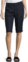 Vince Linen Bermuda Shorts, Blue