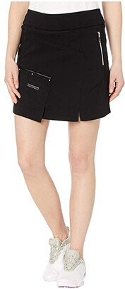 Jamie Sadock Skinnylicious Skort with Control Top Panel (Jet Black) Women's Skort