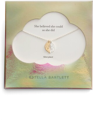 Estella Bartlett She Believed She Could Wings Necklace