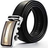 K&S KS Men's Luxury Genuine Leather Belt Automatic Golden Lock Buckle KB015