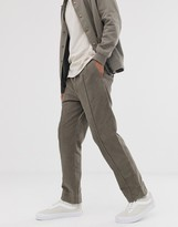 Sacred Hawk tapered trousers in khaki cord