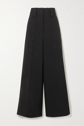 Stella McCartney Wool-blend Wide-leg Pants - Black