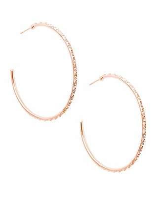 Kendra Scott Val Hoop Earrings in Iridescent Crystal
