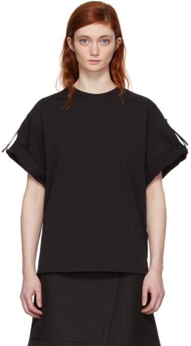 3.1 Phillip Lim Black Oversized Tie T-Shirt