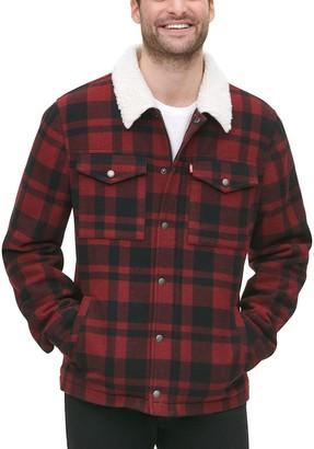 Levi's Men's Wool-Blend Sherpa Collar Trucker Jacket
