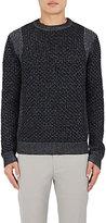 Theory Men's Cellan C Wool Sweater-NAVY