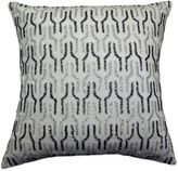 Bed Bath & Beyond Link Stripe Beaded Square Throw Pillow in Ivory