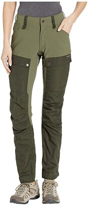 Fjallraven Keb Trousers Curved (Deep Forest/Laurel Green) Women's Outerwear
