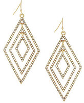 Jessica Simpson Dancing in the Moonlight Pave Diamond Drop Earrings